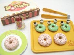 画像1: [ぷちドーナッツ] 7.ストロベリードーナッツ&かえるドーナッツ