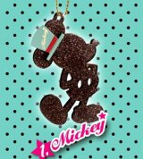 Sale [M&M BIG GLITTER チャーム] 1.Mickey