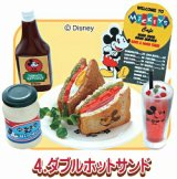 [ミッキーマウス 50's Cafe] 4.ダブルホットサンド