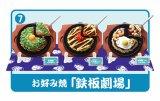 [元祖食品ディスプレイ] 7.お好み焼「鉄板劇場」