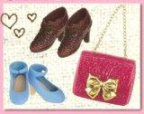 [おでかけ靴バッグ] 8.ピンククロコに一目惚れ