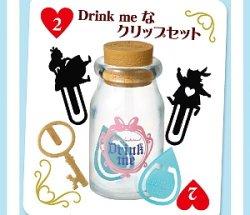 画像1: [ふしぎの国のアリス 飾れる文具] 2.Drink me なクリップセット