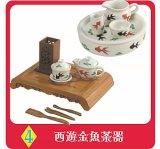 [おとぎの国の食器たち] 4.西遊金魚茶器
